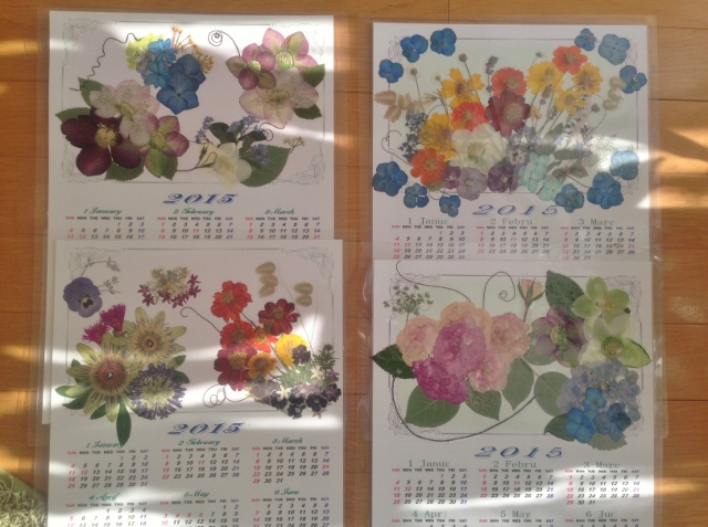 押し花カレンダー