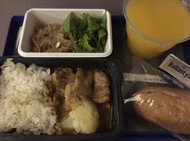 夕食:チキン(カレー味)