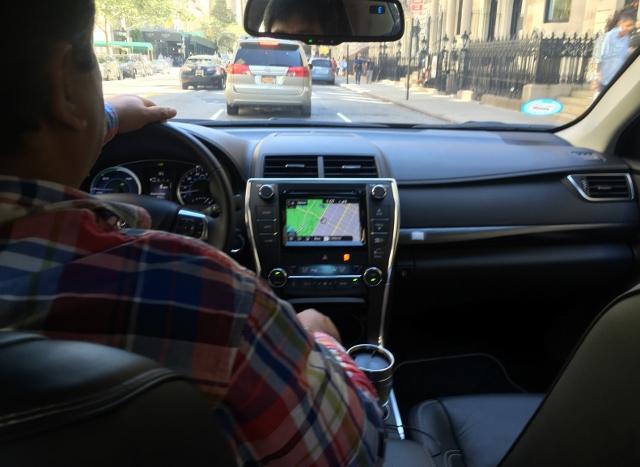 Uber乗車中