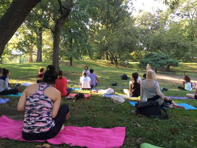 NYC Free Central Park Yoga